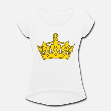 Crown Crown Golden - Women's Rolled Sleeve T-Shirt