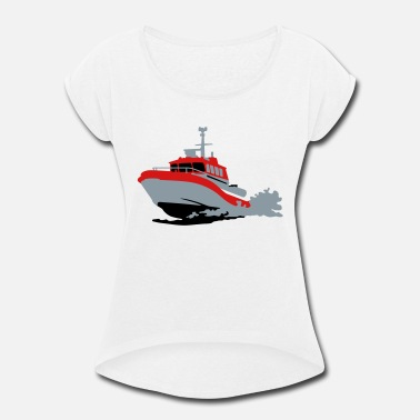 Rescue rescue boat - Women's Rolled Sleeve T-Shirt