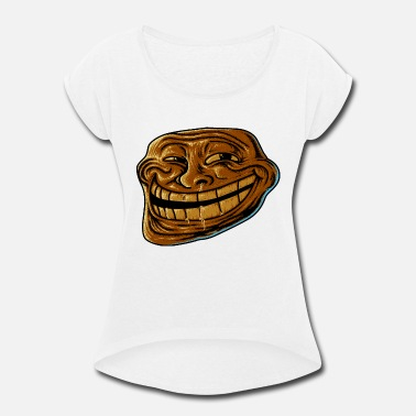 Vines Meme Troll Meme - Women's Roll Cuff T-Shirt