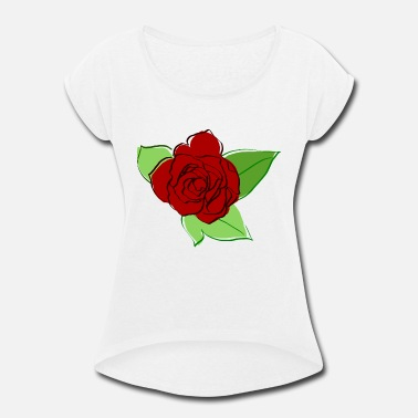 Blume Rose Blume - Women's Rolled Sleeve T-Shirt