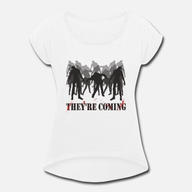 Zombie Attack! - Women's Rolled Sleeve T-Shirt