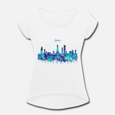 Chicago Chicago, Chicago Illinois - Women's Rolled Sleeve T-Shirt