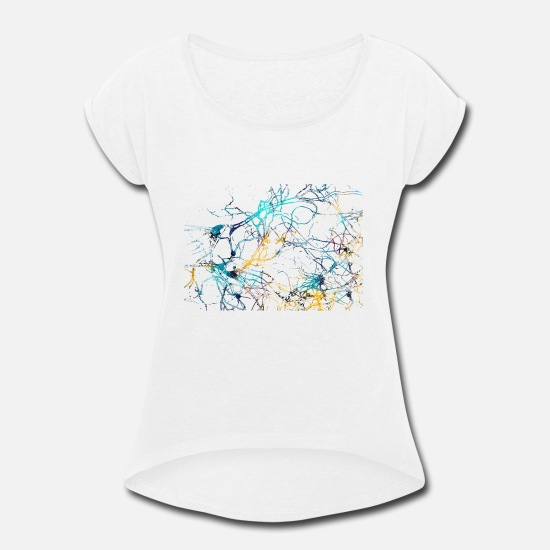 Anatomy T-Shirts - Human cells - Women's Rolled Sleeve T-Shirt white