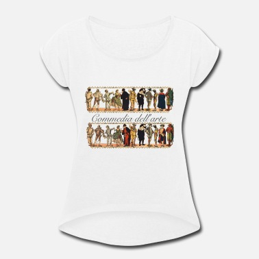 Puppet Theatre Commedia puppet theatre - Women's Rolled Sleeve T-Shirt
