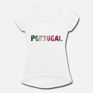 National Colors Portugal - National Colors - Flag - Europe - Women's Rolled Sleeve T-Shirt