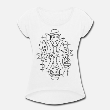 Gangster Anime gangster - Women's Roll Cuff T-Shirt
