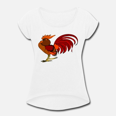 Rooster rooster - Women's Rolled Sleeve T-Shirt