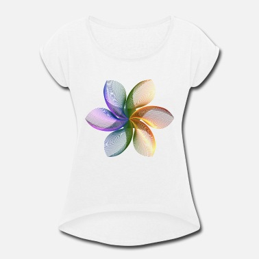 Abstract abstract flower - Women's Roll Cuff T-Shirt