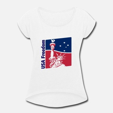 Usa Freedom USA FREEDOM - Women's Rolled Sleeve T-Shirt
