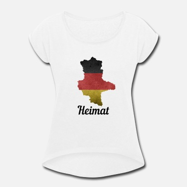 Saxony Saxony-Anhalt Germany home - Women's Rolled Sleeve T-Shirt