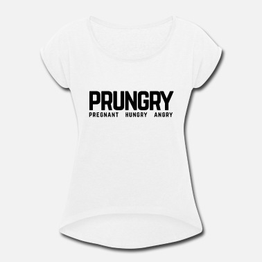 Funny Pregnancy pregnancy - Women's Rolled Sleeve T-Shirt