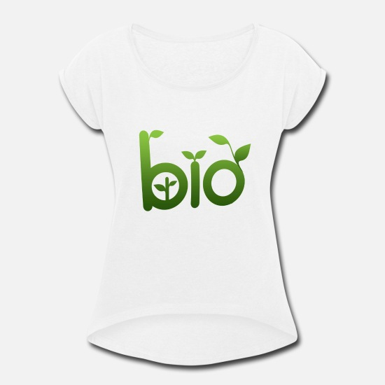 Biology T-Shirts - Bio Food - Women's Rolled Sleeve T-Shirt white