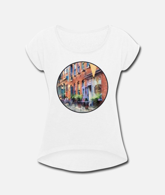 Signs T-Shirts - At the Ice Cream Parlor E - Women's Rolled Sleeve T-Shirt white