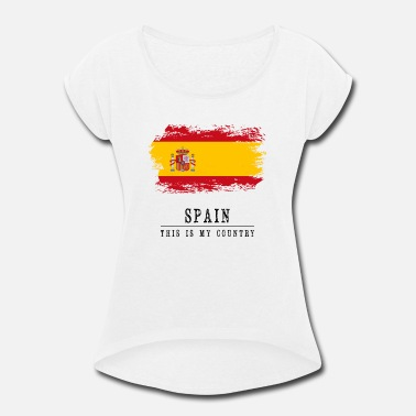 Ulster Spain Flag - Women's Rolled Sleeve T-Shirt