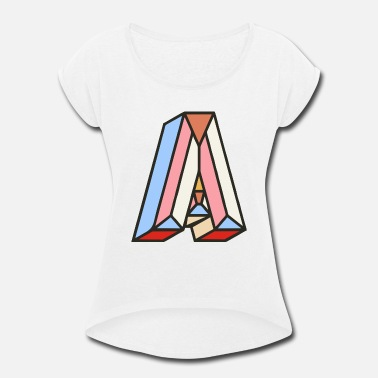 Letter Boxing Letter A - Women's Rolled Sleeve T-Shirt