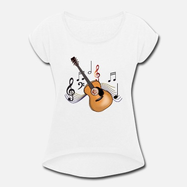 Acoustic Acoustic Guitar - Women's Rolled Sleeve T-Shirt
