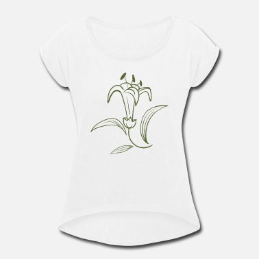 Botanical Botanical, Flower, Botanical Graphic, Florist - Women's Rolled Sleeve T-Shirt