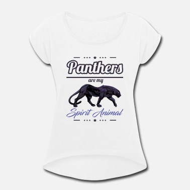 Puma Panther product - Are My Spirit - Wild Animals - Women's Rolled Sleeve T-Shirt