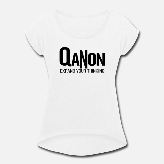Bunny T-Shirts - QANON - Women's Rolled Sleeve T-Shirt white