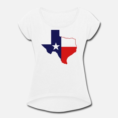 State Border texas state border - Women's Rolled Sleeve T-Shirt