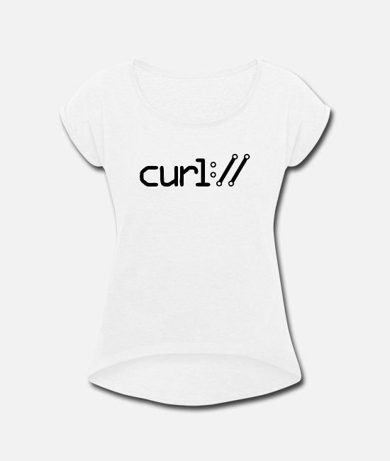 Attractive T-Shirts - New Design Curl Best Seller - Women's Rolled Sleeve T-Shirt white