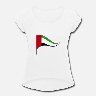 Emirate Kids Arab Emirates Abu Dhabi Flag Banner Flags Ensigns - Women's Rolled Sleeve T-Shirt