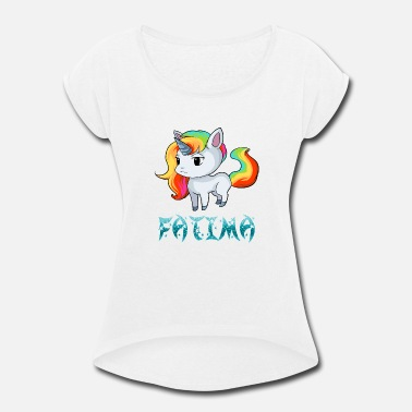 Fatima Fatima Unicorn - Women's Rolled Sleeve T-Shirt