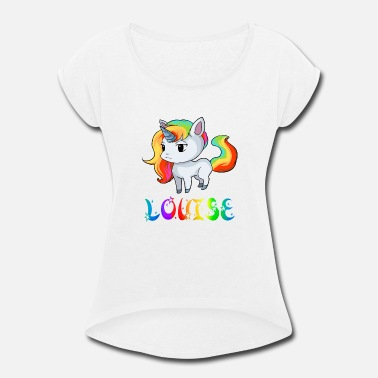 Louise Louise Unicorn - Women's Rolled Sleeve T-Shirt