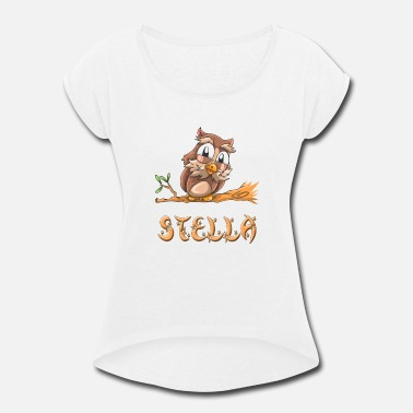 Stella Stella Owl - Women's Rolled Sleeve T-Shirt