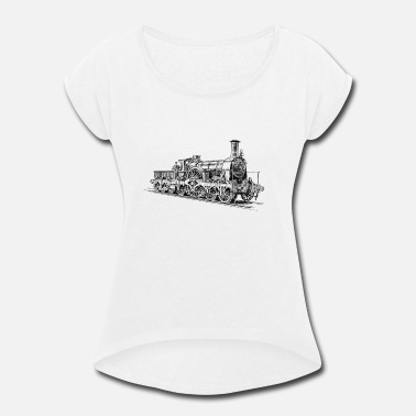 Steam Locomotive Steam Locomotive - Women's Rolled Sleeve T-Shirt
