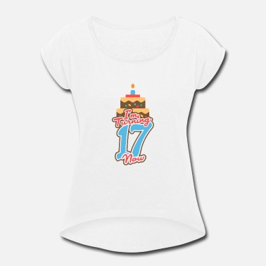 17.birthday Birthday 17 - Women's Rolled Sleeve T-Shirt