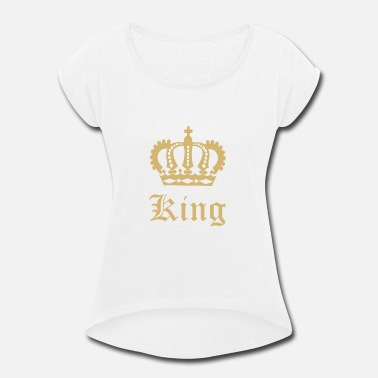 The Dope King Dope Kings Queens Skull Bones Shirt Gift - Women's Roll Cuff T-Shirt