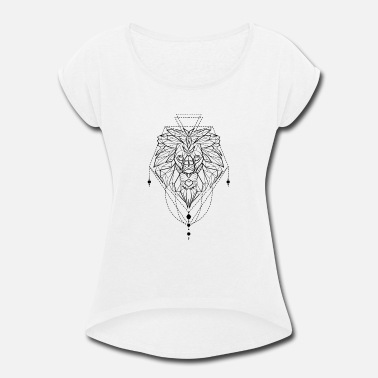 Astrology Leo - Leo zodiac sign astrology drawing Cool - Women's Rolled Sleeve T-Shirt