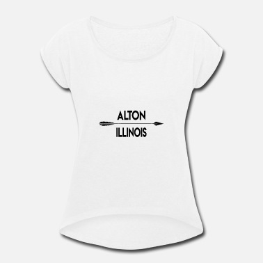 Alton Illinois - Women's Rolled Sleeve T-Shirt