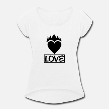Africa Love - Women's Rolled Sleeve T-Shirt