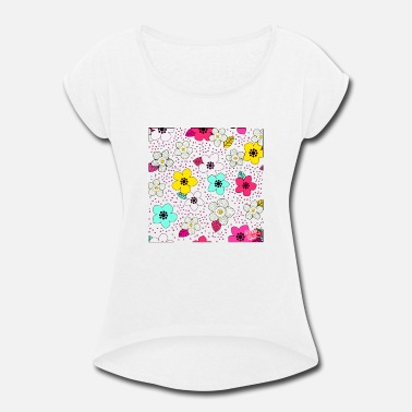 Blume Flower t shirt - Women's Rolled Sleeve T-Shirt