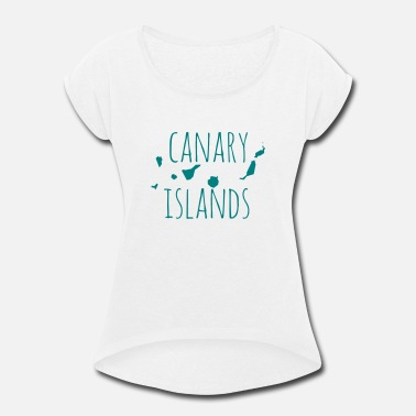 Canary Islands Canary Islands - Women's Rolled Sleeve T-Shirt