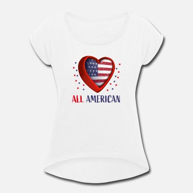 All American All American - Women's Rolled Sleeve T-Shirt