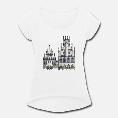 Town Hall Town Hall Münster, Cityhall, Mayor - Women's Rolled Sleeve T-Shirt