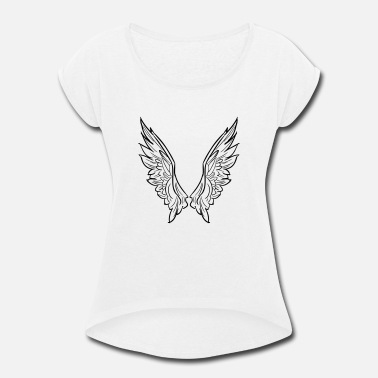 Wings wing - Women's Rolled Sleeve T-Shirt