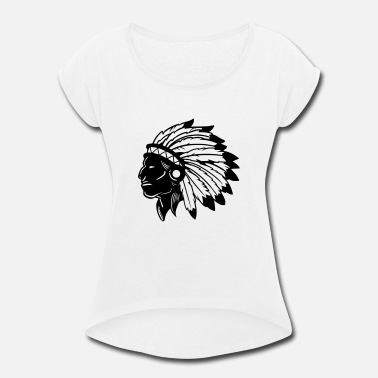 American Indian American Indian - Women's Rolled Sleeve T-Shirt