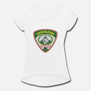 Est 1934 everglades 1934.png - Women's Rolled Sleeve T-Shirt