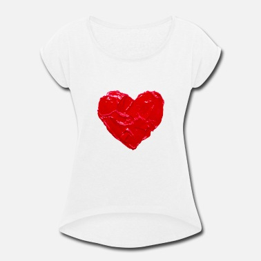 Heart Art - Love - Women's Rolled Sleeve T-Shirt
