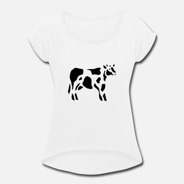 Dairy Cow Dairy cows - Women's Rolled Sleeve T-Shirt