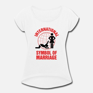 Marriage Marriage - Marriage Symbol - Women's Rolled Sleeve T-Shirt