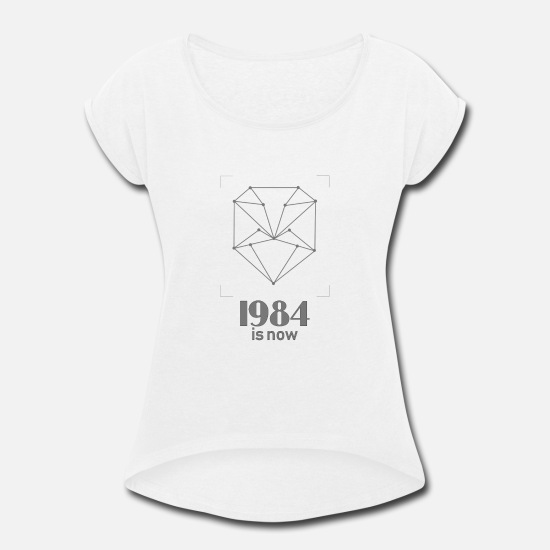 Recognition T-Shirts - facial recognition - Women's Rolled Sleeve T-Shirt white