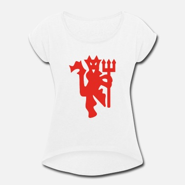 The Red Devils Red Devil - Women's Roll Cuff T-Shirt