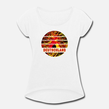 National Colours Germany Abstract / Gift National Colours - Women's Rolled Sleeve T-Shirt