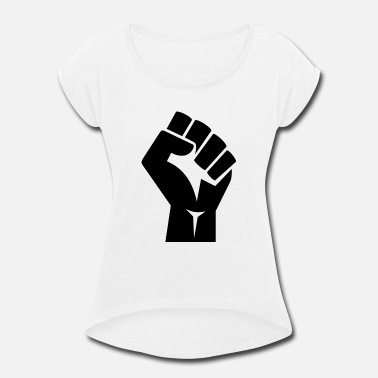 Fist Black Fist - Women's Rolled Sleeve T-Shirt
