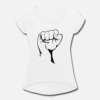 Demo Demo Fist - Women's Rolled Sleeve T-Shirt